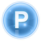 Ice font icon. Letter P isolated on white background — Stock Photo
