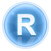Ice font icon. Letter R, isolated on white background — Stock Photo
