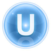 Ice font icon. Letter U, isolated on white background — Stock Photo