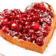 Sweet cake in heart shape — Stock Photo #6907728