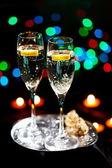 Flöjter champagne — Stockfoto