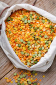 Dried lentils — Stock Photo