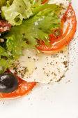 Mozzarella and tomato — Stock Photo