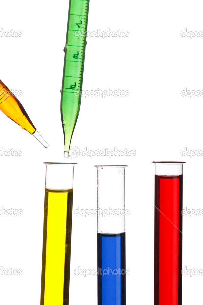 Test tubes and dropper  — Stock Photo #6950424