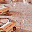 Royalty-Free Stock Photo: Wine glasses on a table