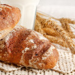 Fresh bread on the table — Stock Photo