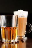 Irish coffee with whiskey — Stock Photo