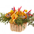 Beautiful flowers in a basket - ストック写真
