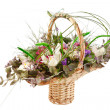 Beautiful flowers in a basket - Foto Stock