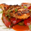 Salmon steak with vegetables — Stock Photo #6971671