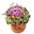 Beautiful flowers in a basket - Lizenzfreies Foto