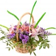 Beautiful flowers in the basket - Foto Stock
