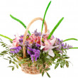 Beautiful flowers in the basket - Stock fotografie