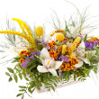 Beautiful flowers in the basket -  