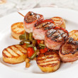 Stock Photo: Grilled meat with vegetables