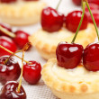 Tart with cherries - Stock Photo