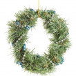 Royalty-Free Stock Photo: Christmas wreath isolated on white