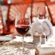 Stock Photo: Wine glasses on the table