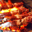 Grilling lamb — Stock Photo #6975700