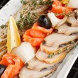 Fish delicacies on festive table — Stock Photo #6976010