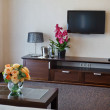 Interior of modern comfortable hotel room — Stock Photo