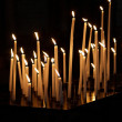 图库照片: Candles in a church