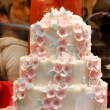 Wedding cake with white icing — Stock Photo