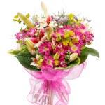 boeket van kleurrijke bloemen — Stockfoto #6978092