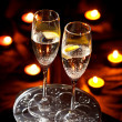 Flutes of champagne -  