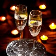 Flutes of champagne - Stockfoto