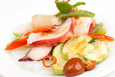 Octopus with vegetables — Stock Photo