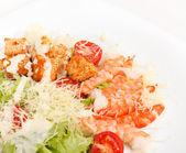 Caesar Salad with shrimps — Stock Photo