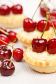 Tart with cherries — Stock Photo