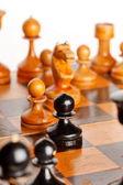 Houten schaak — Stockfoto