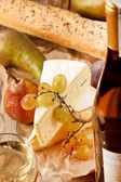 Wine and cheese — Stock fotografie