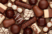 Doces de chocolate — Fotografia Stock