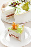 Cake with pistachio — Stock Photo