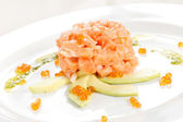 Appetizer with salmon — Stock Photo