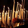 Candles in church — Stock Photo