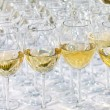 Stock Photo: Glass drink white wine on buffet outdoor party