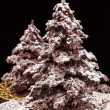 Chocolate Christmas tree — Stock Photo