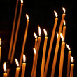 Stockfoto: Candles in a church