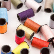 Bobbins of lurex thread — Stock Photo #6984540
