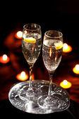 флейты шампанского — Стоковое фото