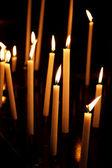 свечи в церкви — Стоковое фото