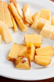 Plate of cheese — Stock Photo
