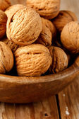 Walnuts in the dish — Stock Photo