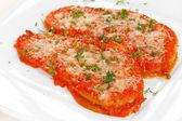 Aubergines met Parmezaanse kaas — Stockfoto