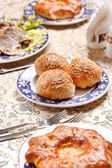 Buns with sesame seeds — Stockfoto