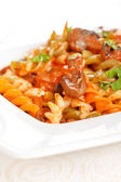 Pasta with vegetables — Stockfoto